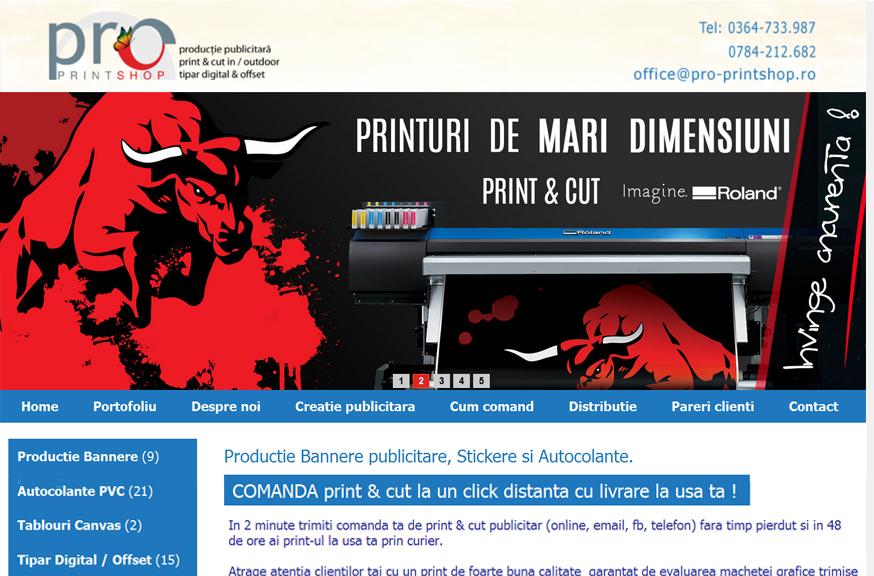 Agentie productie publicitara print indoor / outdoor