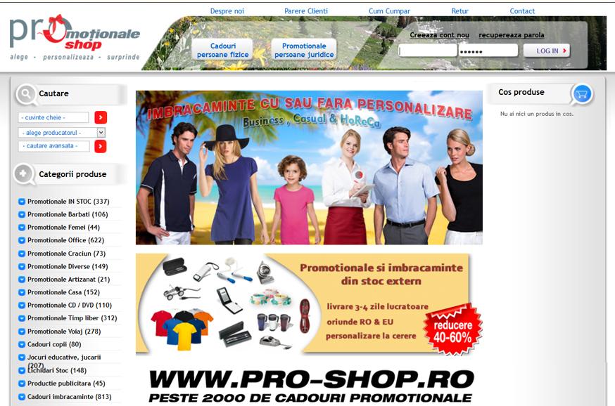 Magazin promotionale personalizate, imbracaminte si cadouri