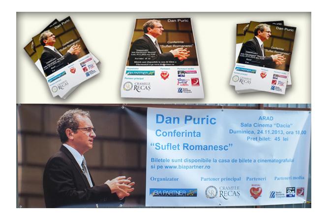 Afis conferinta Dan Puric