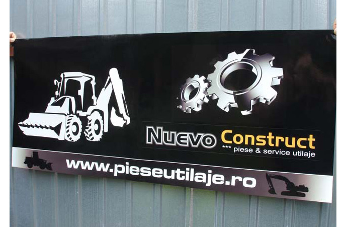 Productie banner autdoor construct
